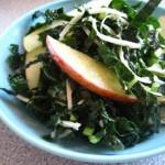 Farmers Market Recipe: Kale and apple salad using market fresh produce