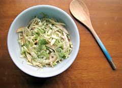 11 Shaved Apple Fennel Celery Salad by Lindsay Strannigan