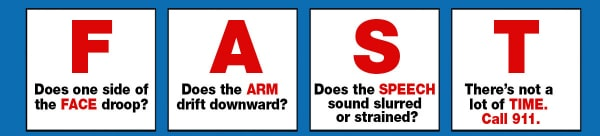 Stroke Awareness and First Aid, Know the signs