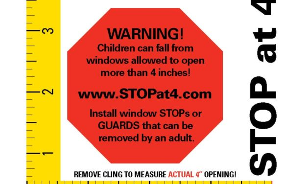 TVF&R Offers Tips to Prevent Window Falls: Stop at 4 inches campaign