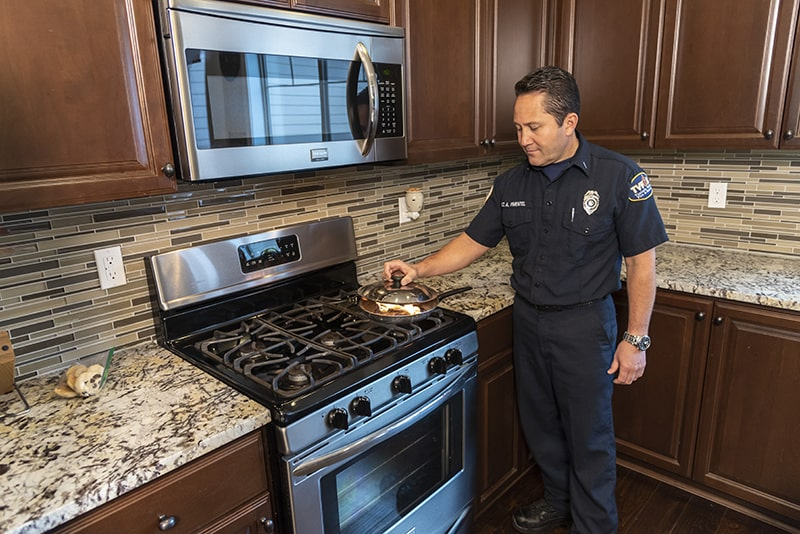 Put a Lid on Cooking Fires A leading cause of home fires