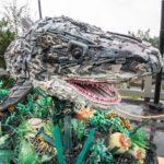 Giant sea-life sculptures wash ashore at Oregon Zoo
