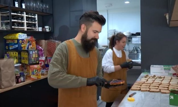 Providing meals to students in need. Lionheart Coffee steps up during school closures