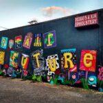 """New downtown mural """"Repair the Future"""""""