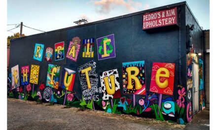 "New downtown mural ""Repair the Future"""