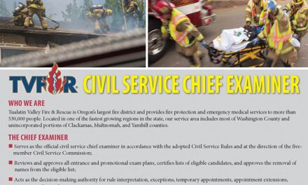 TVF&R Seeks Chief Examiner for Civil Service Commission