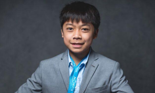 Meet Joseph, a very super student! Thanks to Kumon of South Beaverton