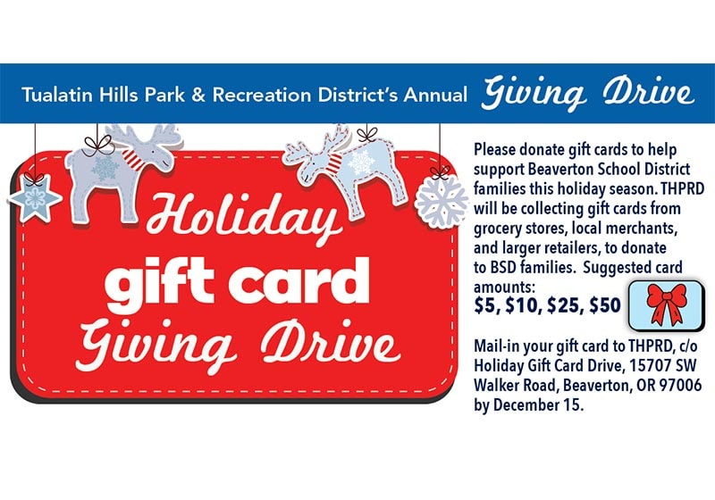 Helping Families in Need with THPRD's Holiday GIFT CARD Drive