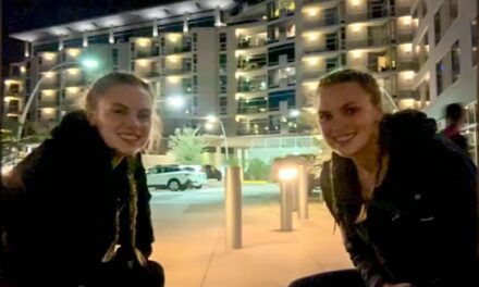 Beaverton twins reunite after going away to separate colleges