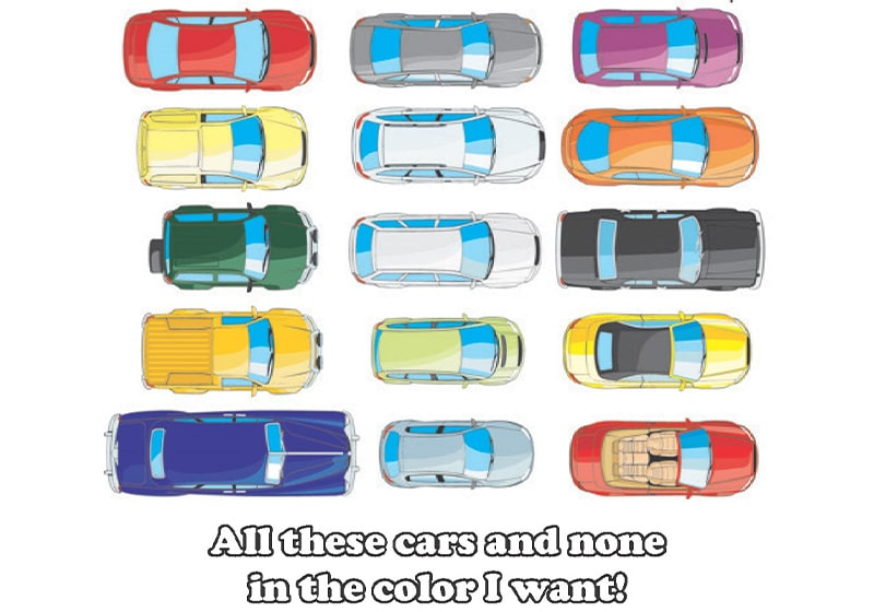 When looking for a new car, patience is your friend: Specific colors and trim levels are hard to come by