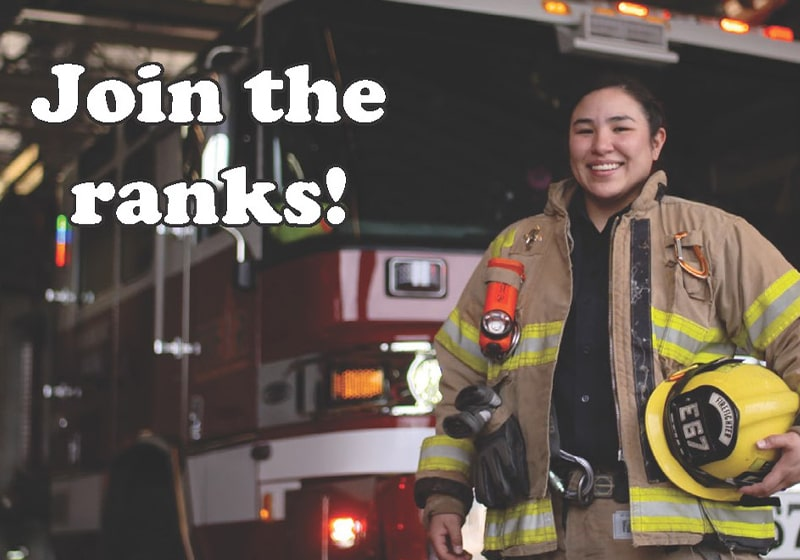 TVF&R to hire paramedics and firefighters. Learn more on April 15, 6pm, Join the Ranks!