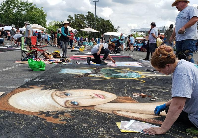 RAISE UP Downtown Beaverton kicks off with La Strada dei Pastelli, incredible chalk artists will amaze and delight