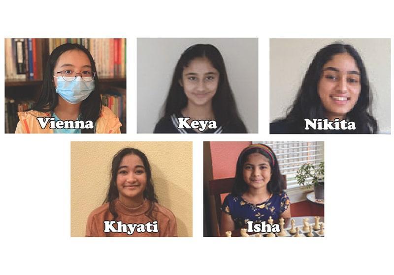 Meet Vienna, Isha Nikita, Keya & Khyati of the The Queen's Gambit Chess Club