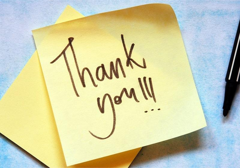 The power of thank you! It's easy to forget.